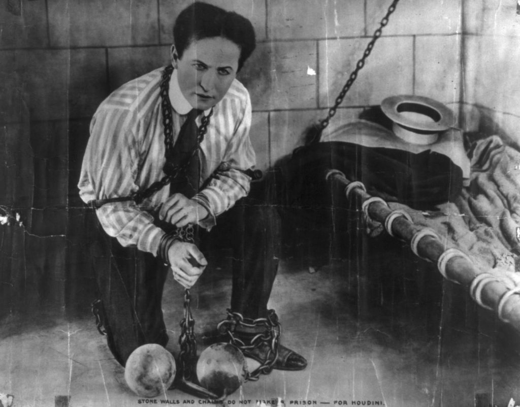 Harry Houdini, circa 1898. [Library of Congress, McManus-Young Collection].
