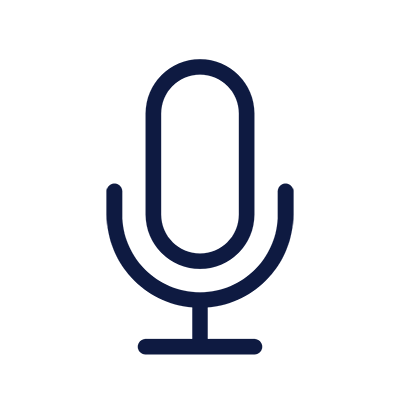 Icon of microphone to indicate a audio file.