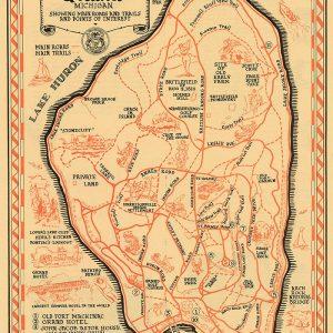 Mackinac Island Map Print
