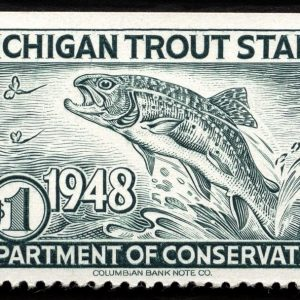 1948 Michigan Trout Stamp Magnet