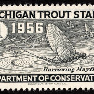 1956 Michigan Trout Stamp Magnet