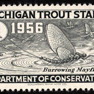 Michigan Trout Stamp, 1956