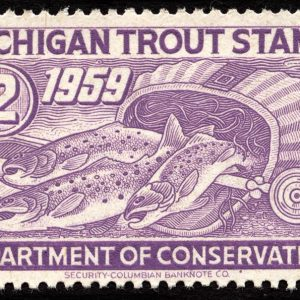 1959 Michigan Trout Stamp Magnet