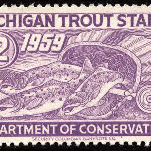 Michigan Trout Stamp, 1959