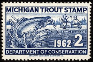 1962 Michigan Trout Stamp Magnet