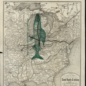 Map of the Grand Rapids & Indiana Railroad, 1900
