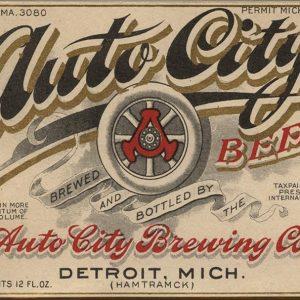 Auto City Beer Label Magnet