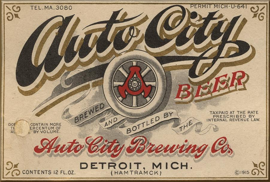 Auto City Beer Label Magnet
