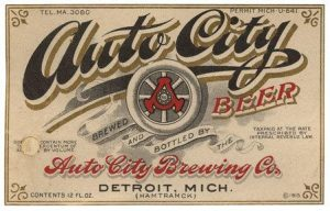 Auto City Beer Label Print