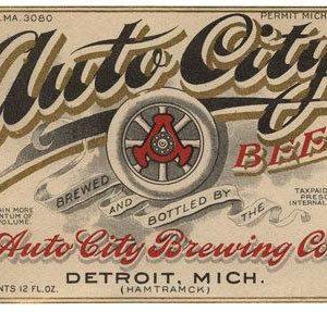Auto City Beer Label Print
