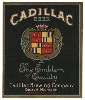 Cadillac Beer Label Print