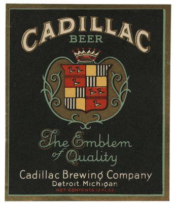 Cadillac Beer Label Print
