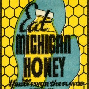 Eat Michigan Honey Magnet
