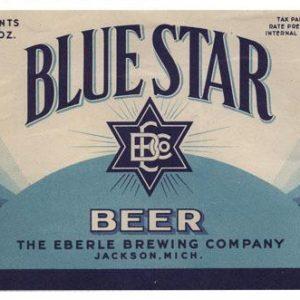 Blue Star Beer Label Print
