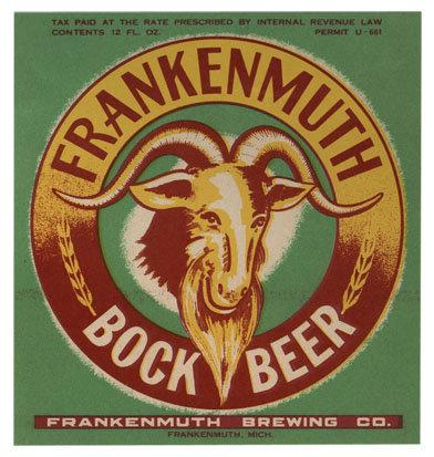 Frankenmuth Bock Beer Label Print