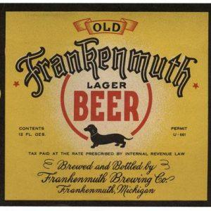 Old Frankenmuth Lager Beer Label Print