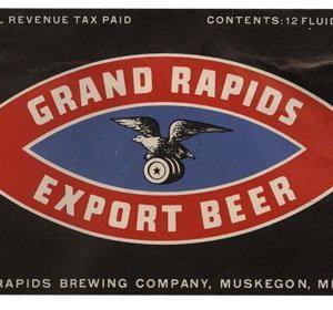 Grand Rapids Export Beer Label Print