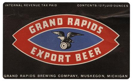 Grand Rapids Export Beer Label Print