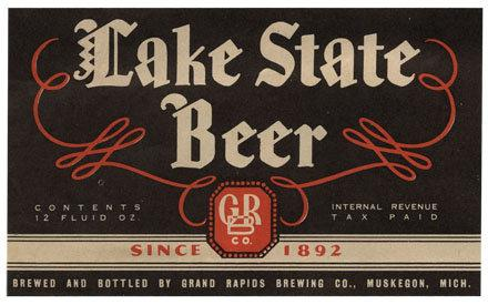 Lake State Beer Label Print