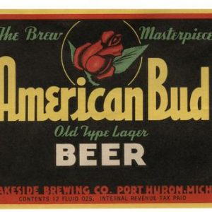 American Bud Beer Label Print