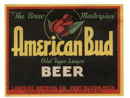 American Bud Beer Label Print