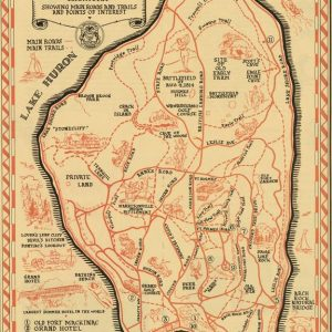 Map of Mackinac Island Magnet