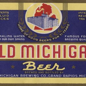 Old Michigan Beer Label Magnet