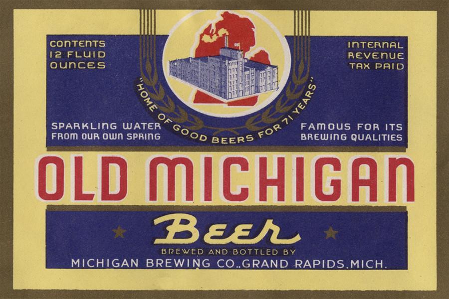 Old Michigan Beer Label Magnet