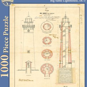 Big Sable Lighthouse Architectural Drawing Puzzle