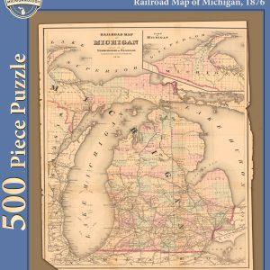 Railroad Map of Michigan Puzzle
