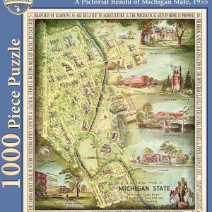 A Pictorial Rendu of Michigan State, 1955 Puzzle