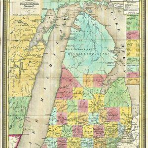 1839 Pocket Map of Michigan Magnet