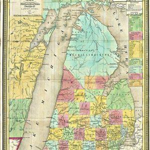 Tourist Pocket Map of Michigan