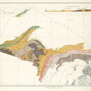 Geological Map of the Northern Peninsula of Michigan, 1936
