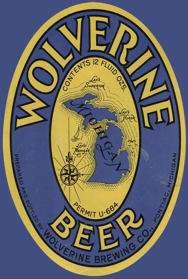 Wolverine Beer Magnet