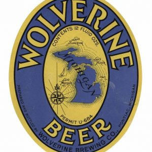 Wolverine Beer Label Print