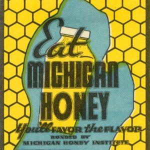 Eat Michigan Honey Print