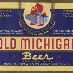 Old Michigan Beer Label Print